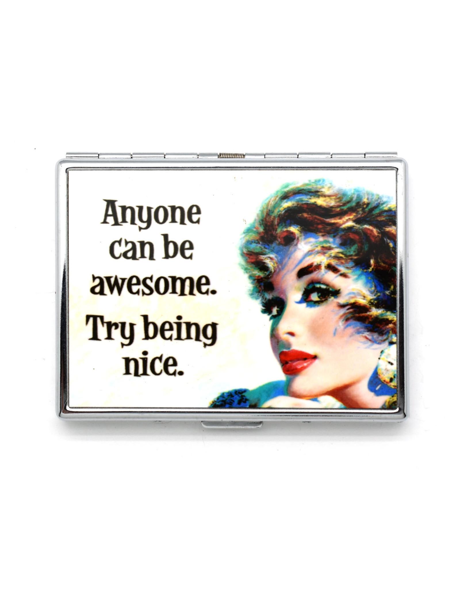 Try Being Nice Metal Card Case