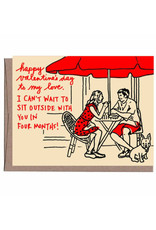 Sidewalk Cafe Valentine's Day Greeting Card