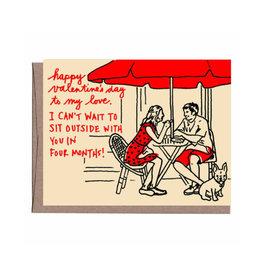 Sidewalk Cafe Valentine's Day Greeting Card