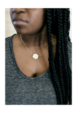 Balanced Geometry Necklace (Blue)