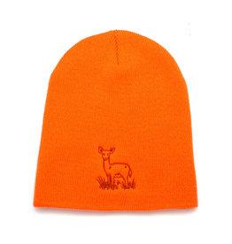 EcoRI Safety Orange Embroidered Beanie