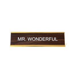 Mr. Wonderful Office Sign