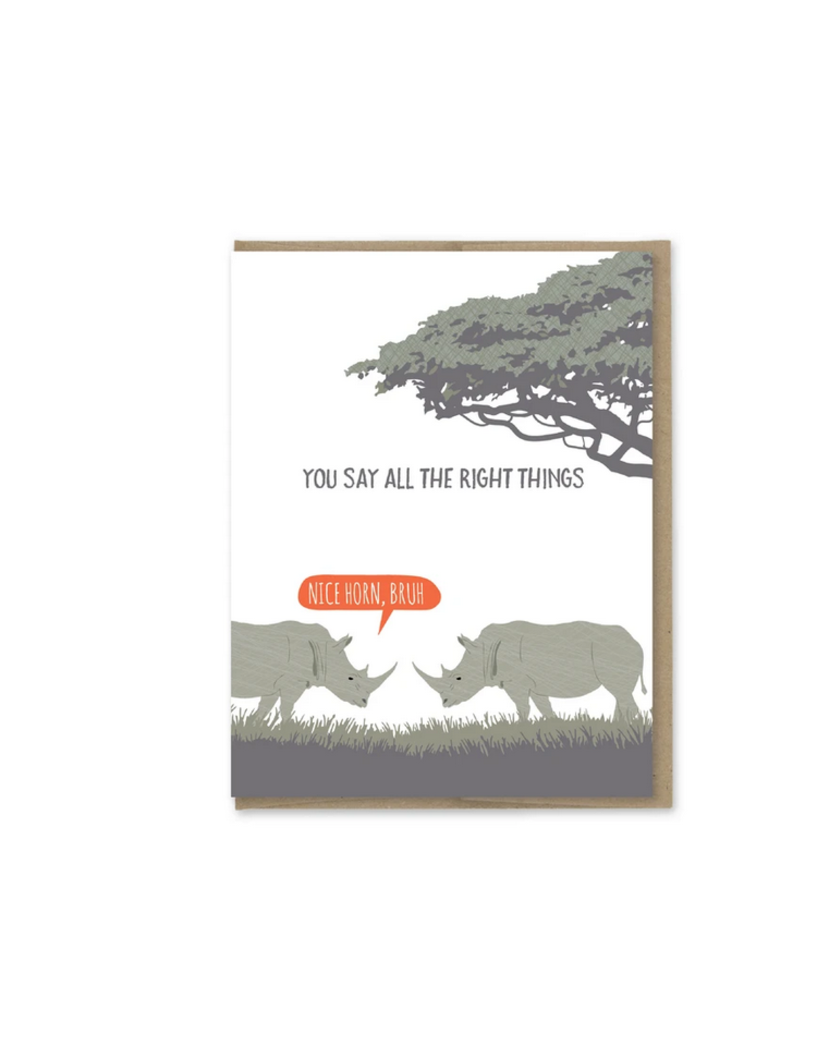 You Say All The Right Things Rhinos Greeting Card