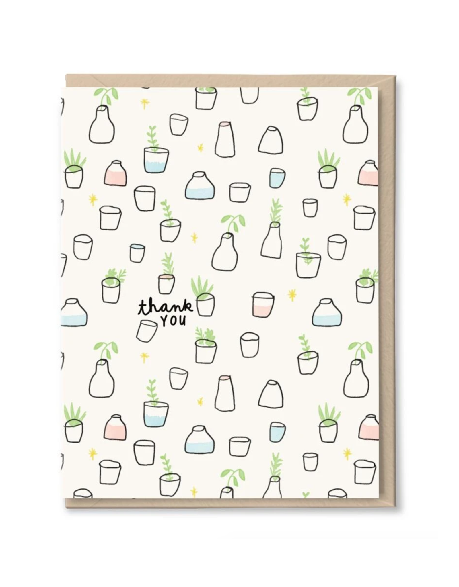 Thank You Plants in Jars Greeting Card