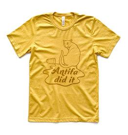 Antifa Did It Cat T-Shirt