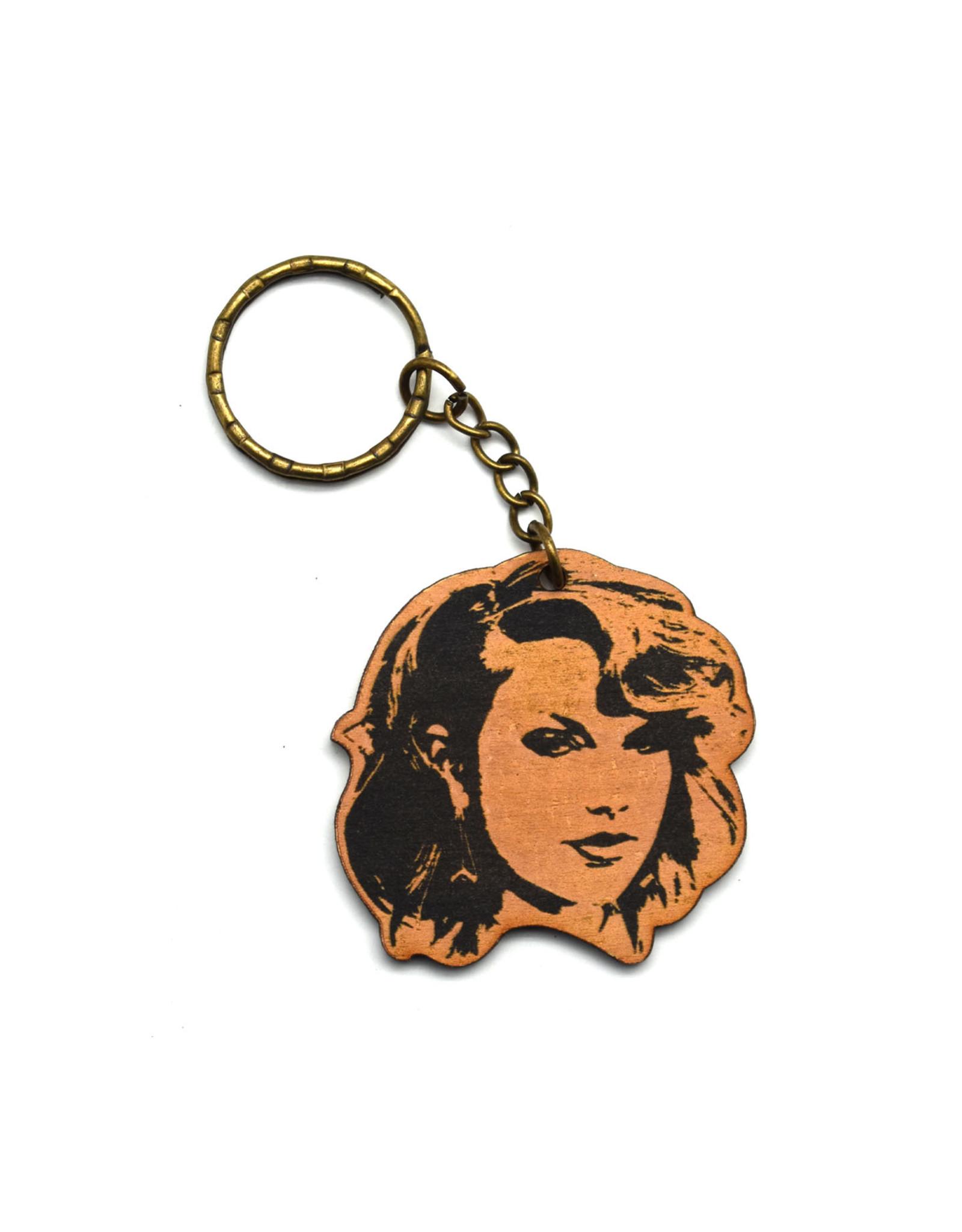 Taylor Swift Wooden Keychain