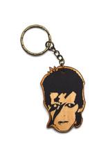David Bowie Wooden Keychain