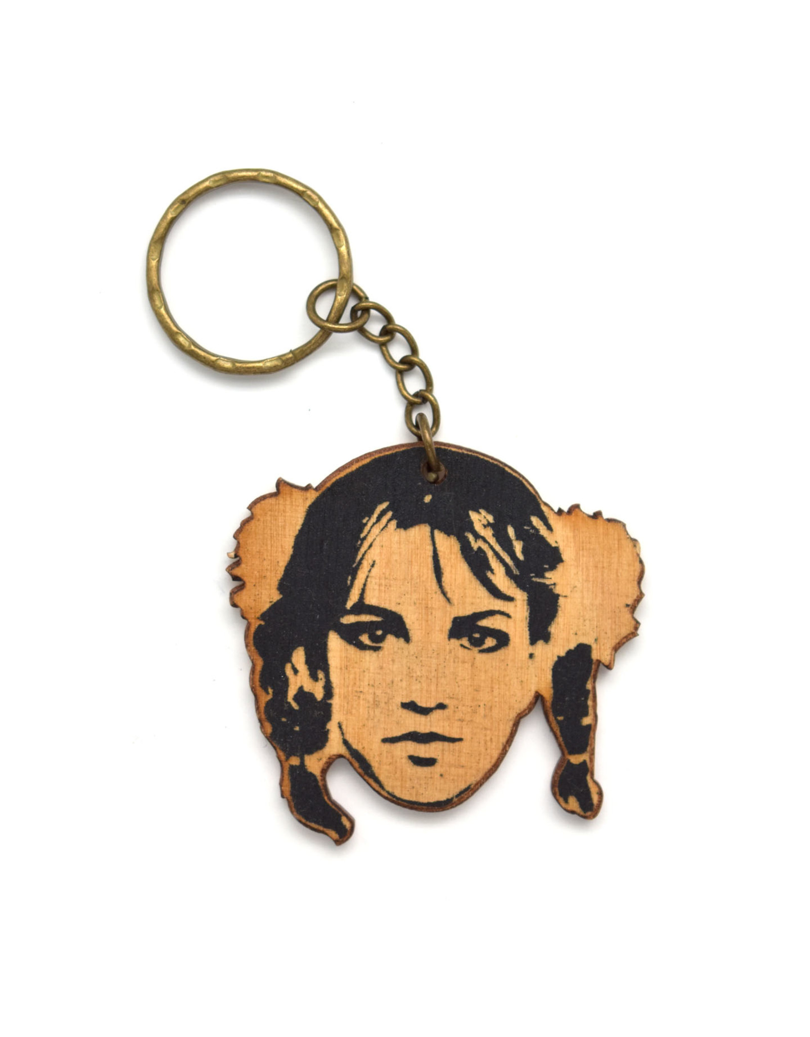 Britney Spears Wooden Keychain