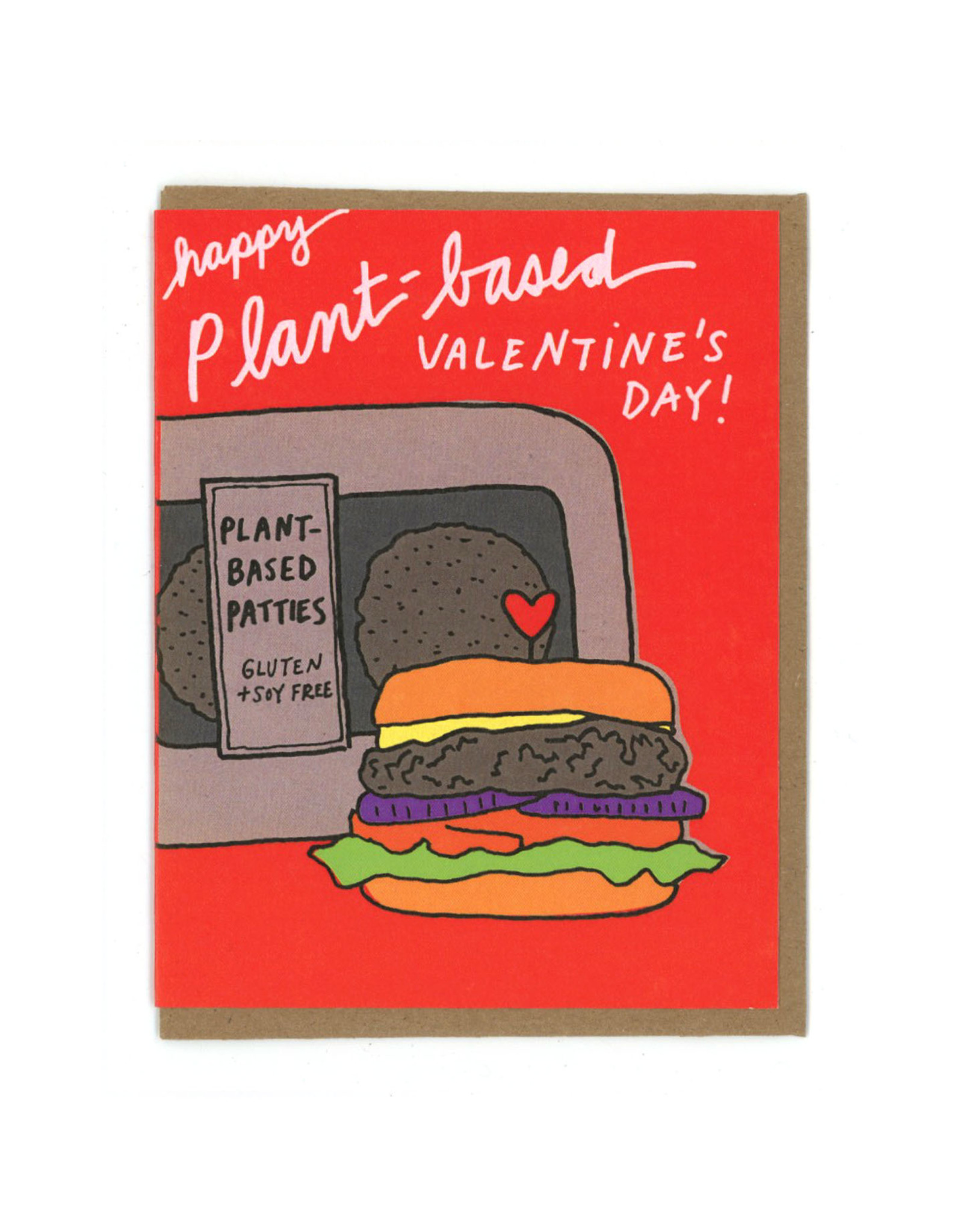 Plant Based Valentine's Day Greeting Card
