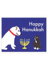 Hanukkah Cat and Dog Greeting Card