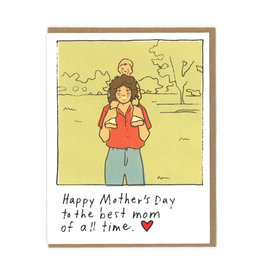 Happy Mother's Day To The Best Mom Of All Time Greeting Card