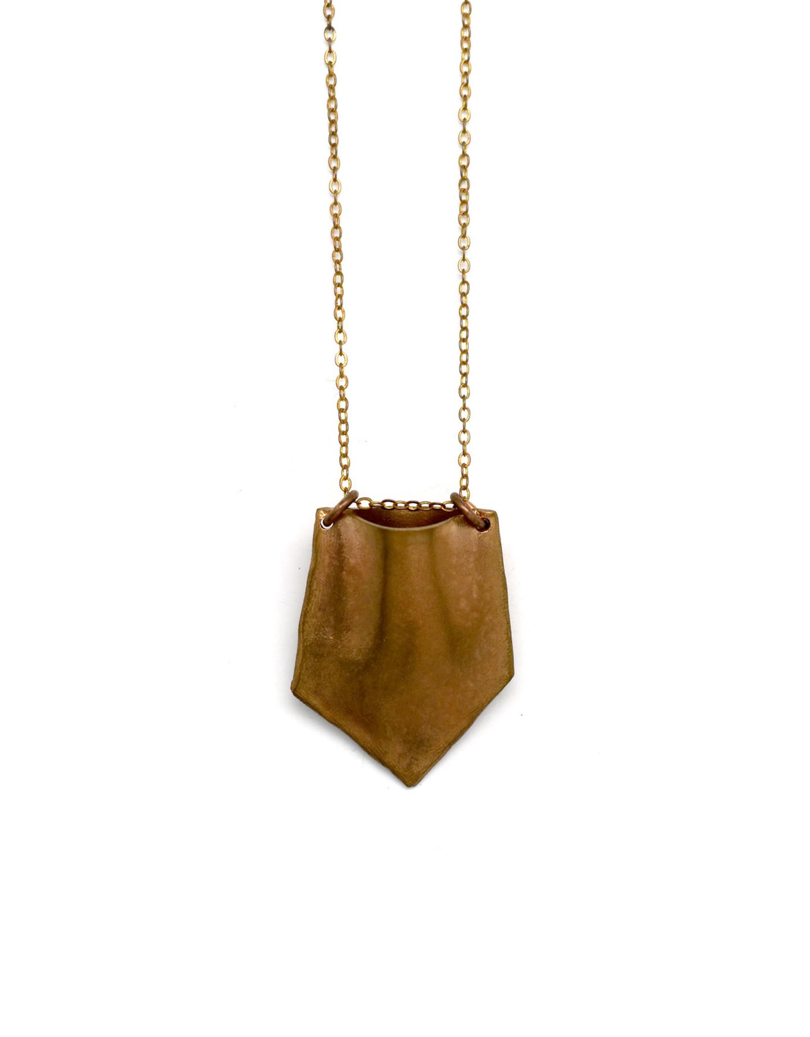 Bronze Chevron Necklace