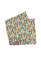 Dogs on Teal Lavender Heat Wrap - Large