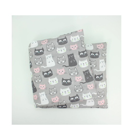 Cats on Gray Lavender Heat Wrap - Large