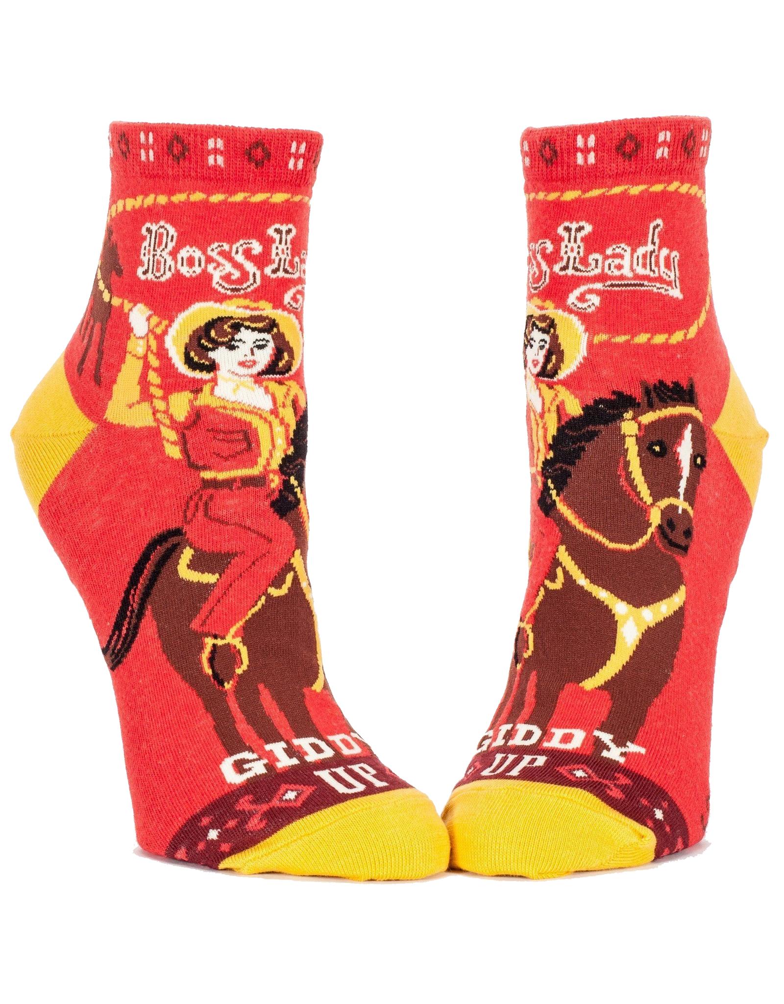 Boss Lady Giddy Up Women's Ankle Socks