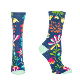 Delicate Fucking Flowers Women's Crew Socks