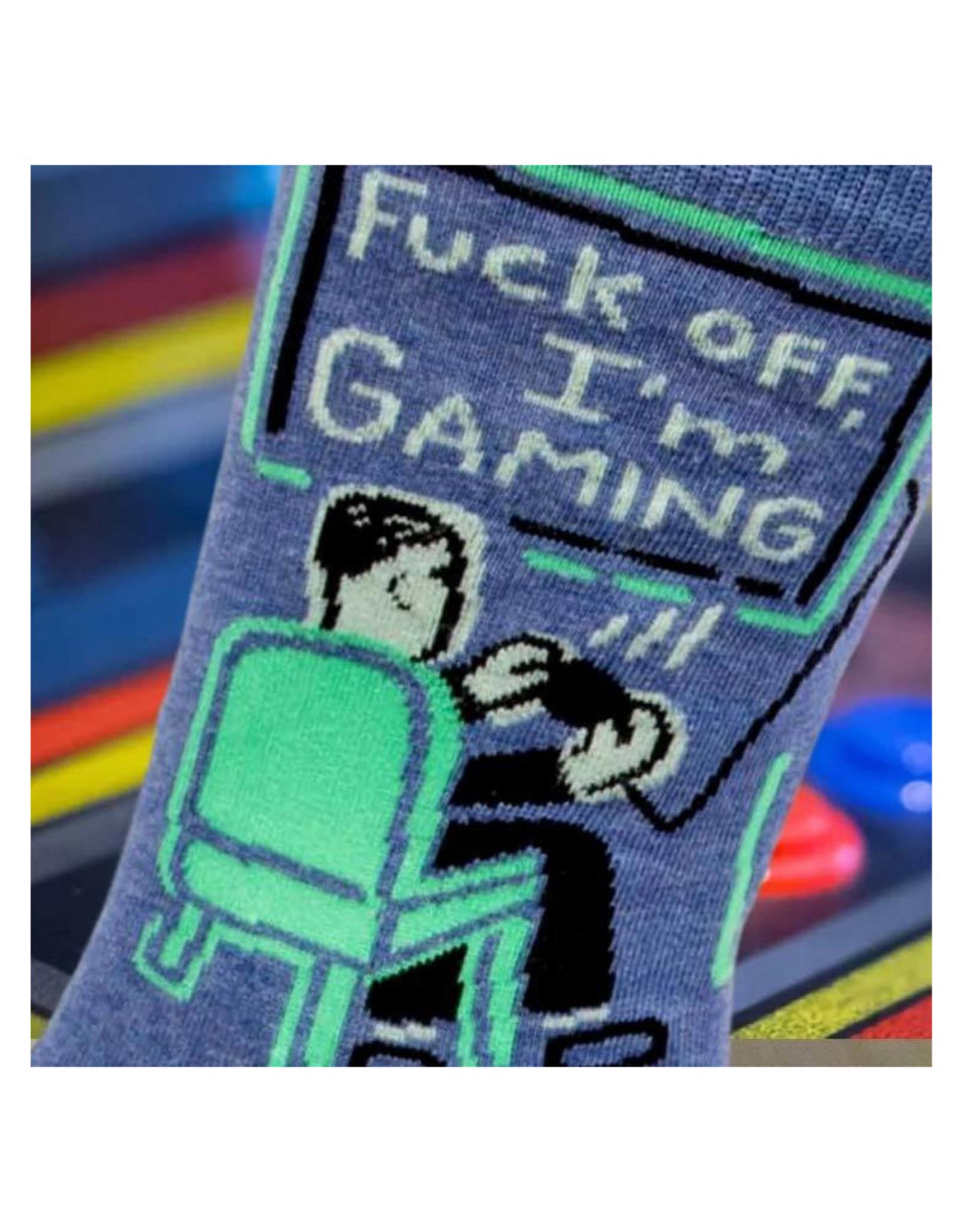 Fuck Off, I'm Gaming Men's Crew Socks