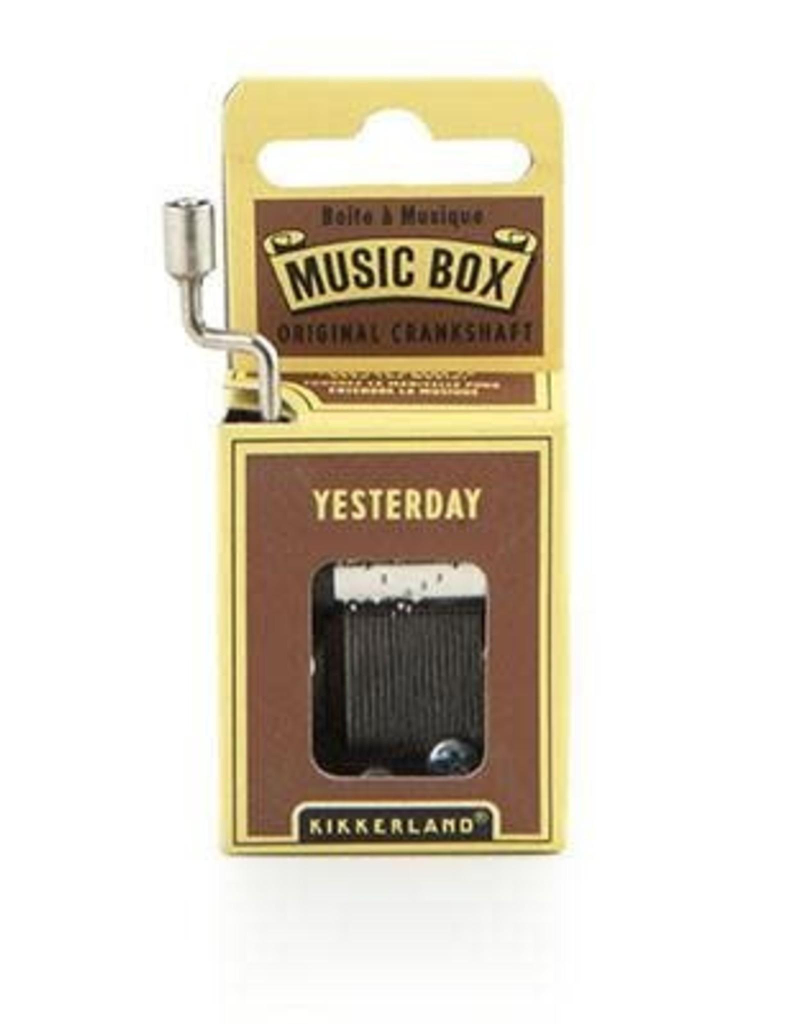 Yesterday Music Box