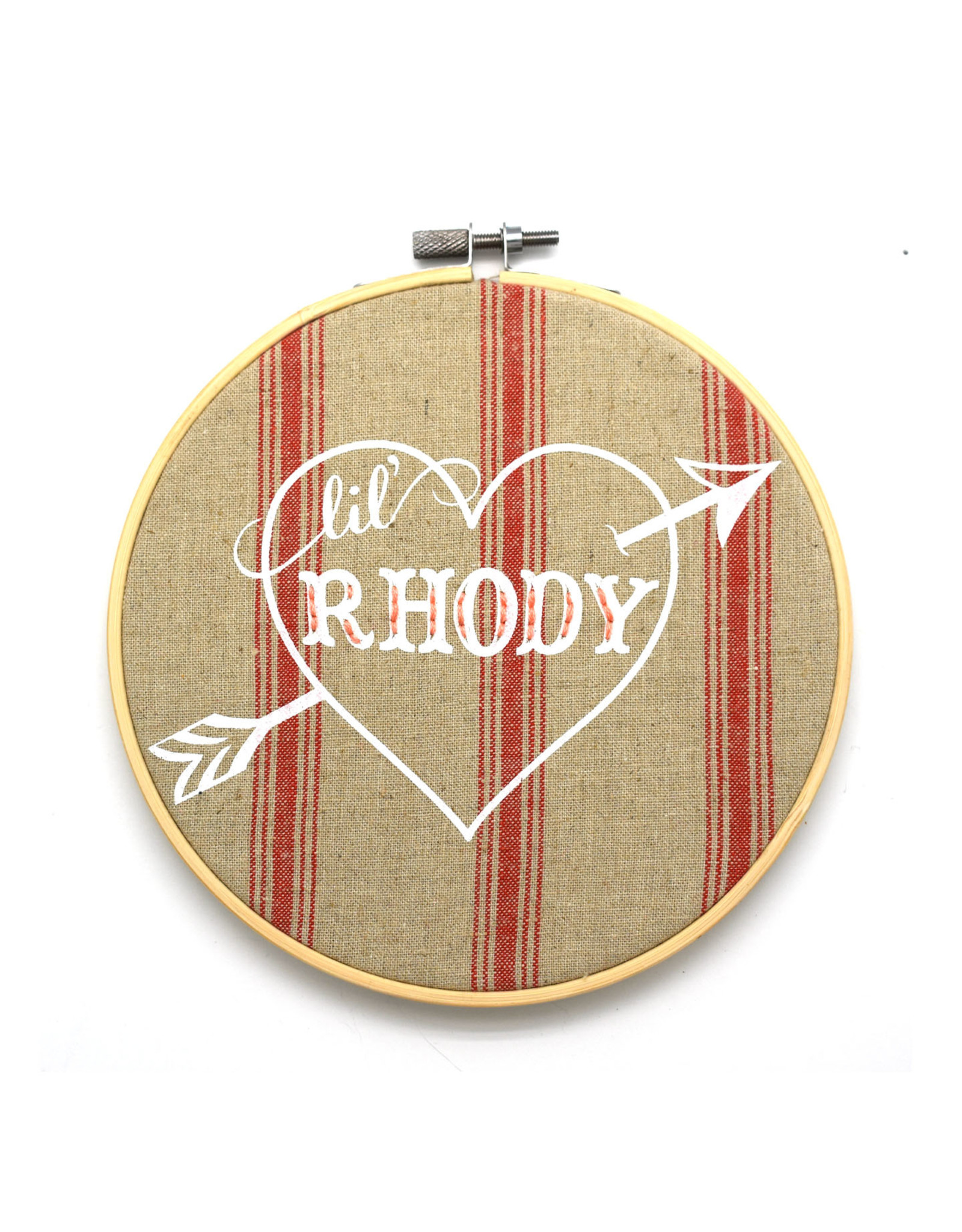 Lil' Rhody Heart Sampler Hoop