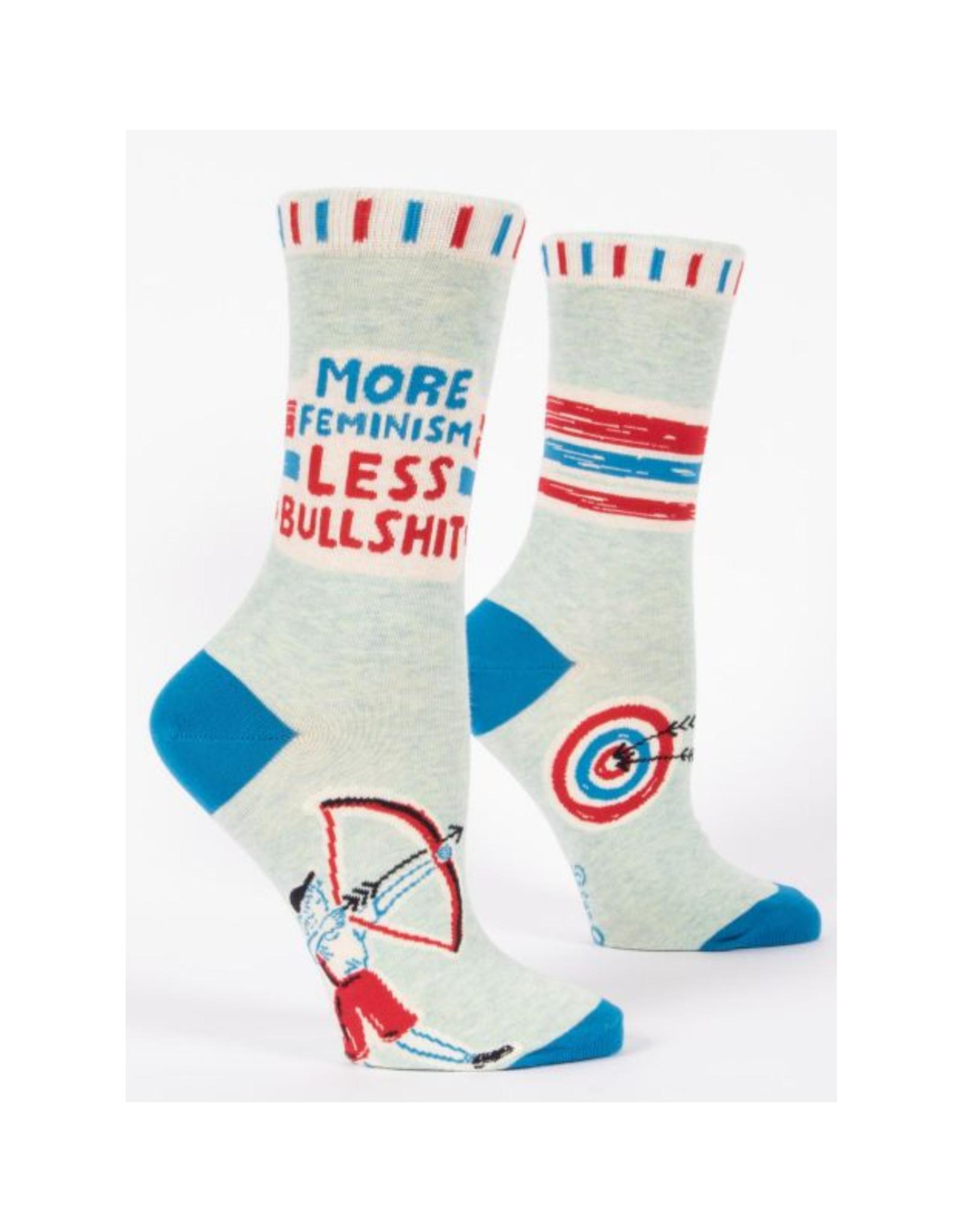 More Feminism Less Bullshit Women's Crew Socks