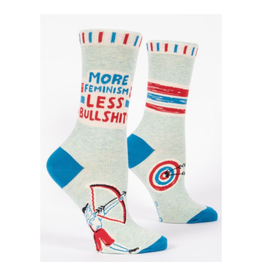 More Feminism Less Bullshit Women's Crew Socks