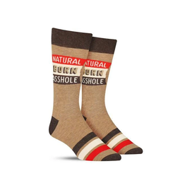 Natural Born Asshole Men's Crew Socks