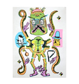Walker Mettling Monster Body Parts Print