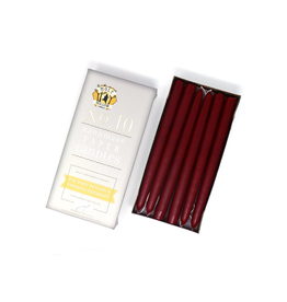 Burgundy Taper Candle