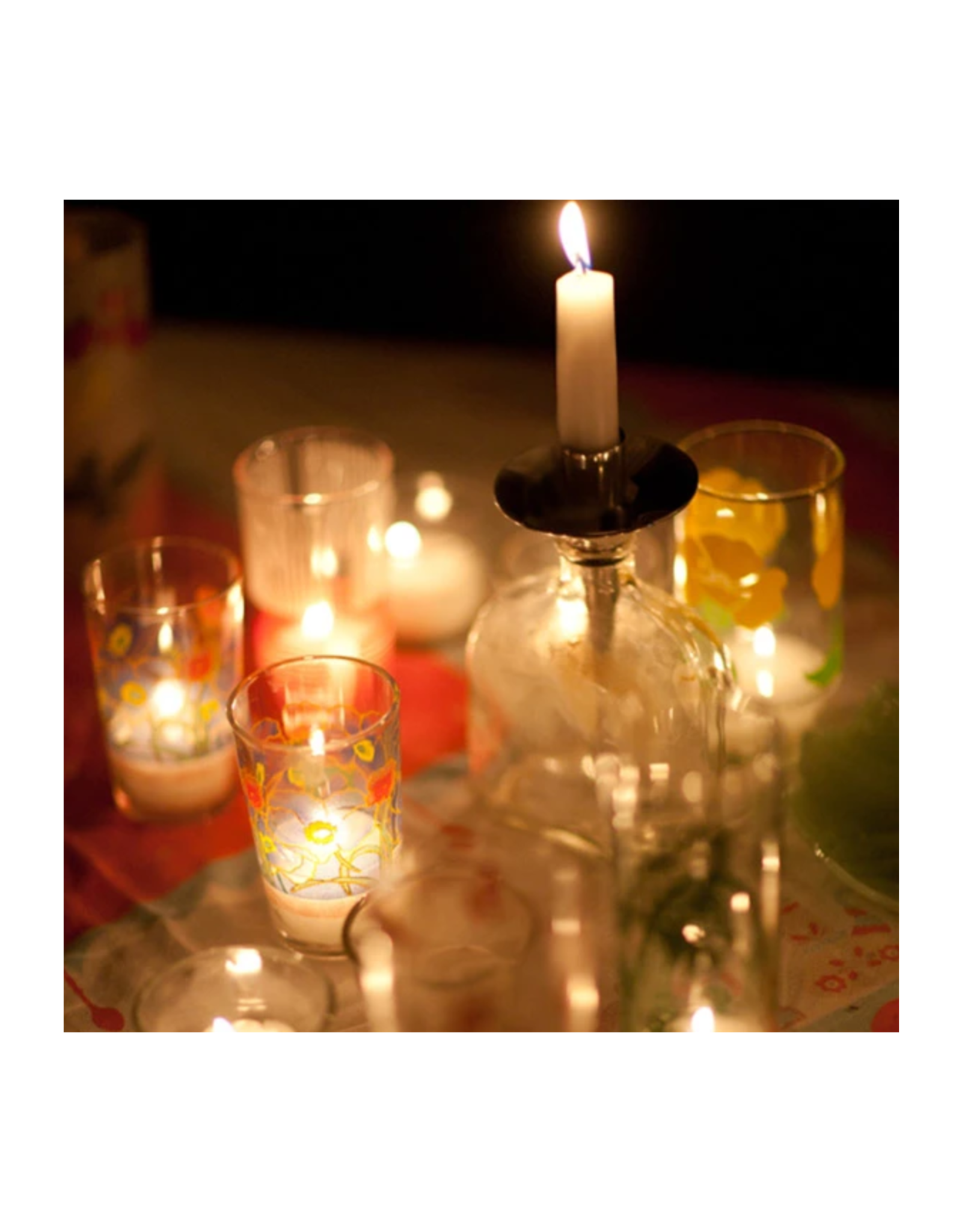 Sweetheart Red Taper Candle