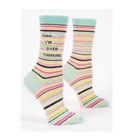 Shhh... I'm Overthinking Women's Crew Socks