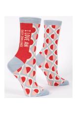 I Love An Easy Challenge Women's Crew Socks