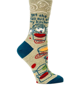 Get The Hell Out Of My Kitchen Women's Crew Socks