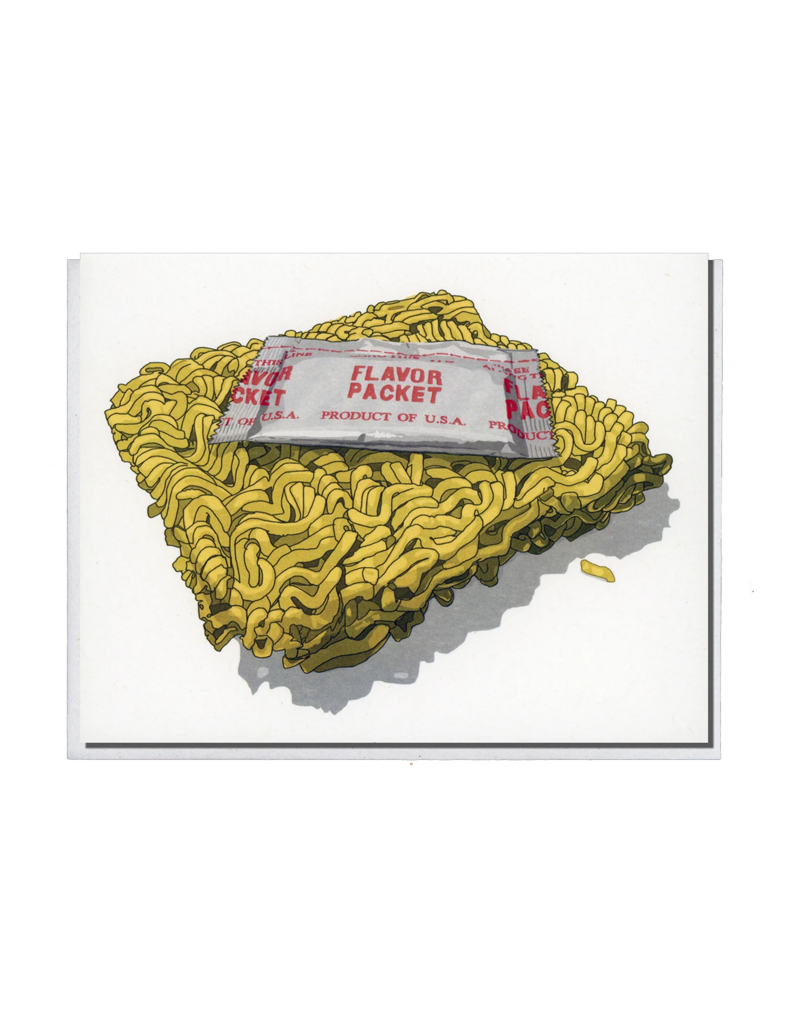 Instant Ramen Flavor Packet Greeting Card
