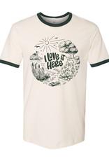 I Love It Here ecoRI Ringer T-Shirt