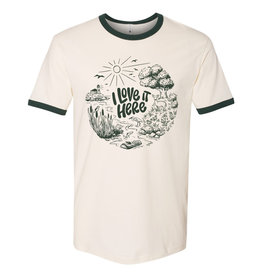 I Love It Here ecoRI Ringer T-Shirt