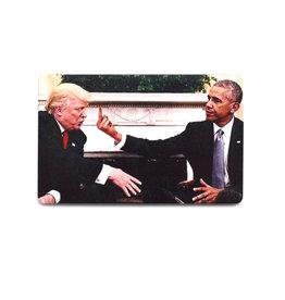 Obama & Trump Middle Finger Magnet