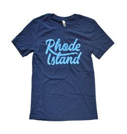 Rhode Island Script T-shirt
