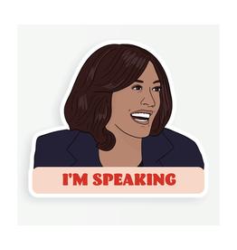 "Kamala  ""I'm Speaking"" Sticker"