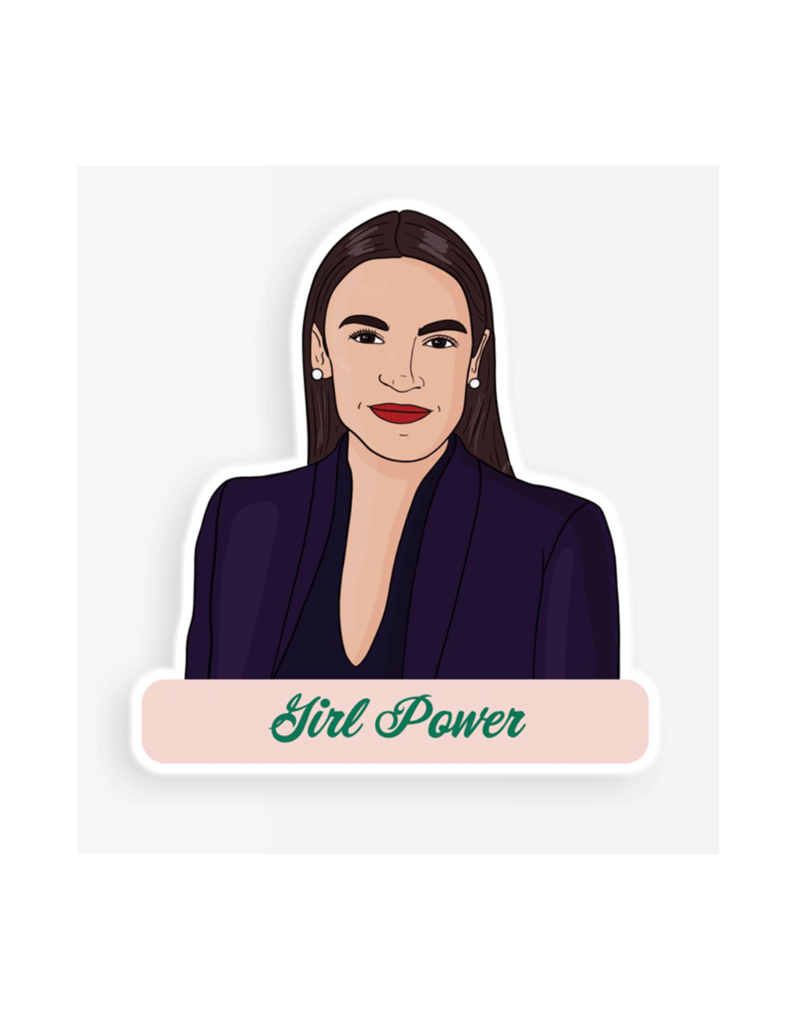 AOC Girl Power Sticker