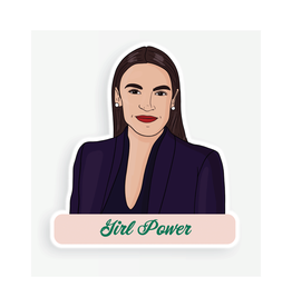 AOC Girl Power Sticker
