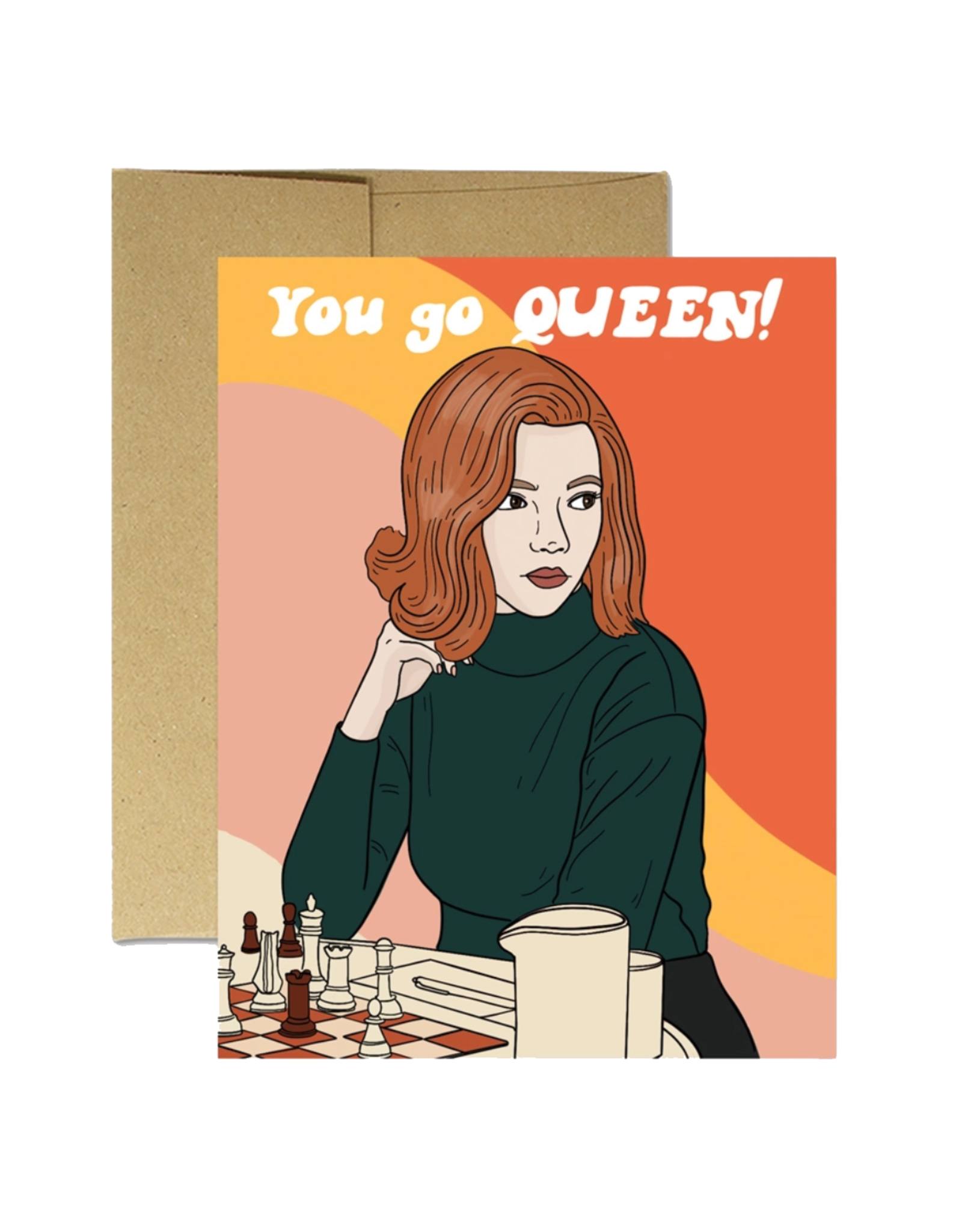 You Go Queen (Queen's Gambit) Greeting Card