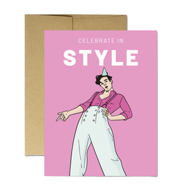 Celebrate in (Harry) Styles Greeting Card
