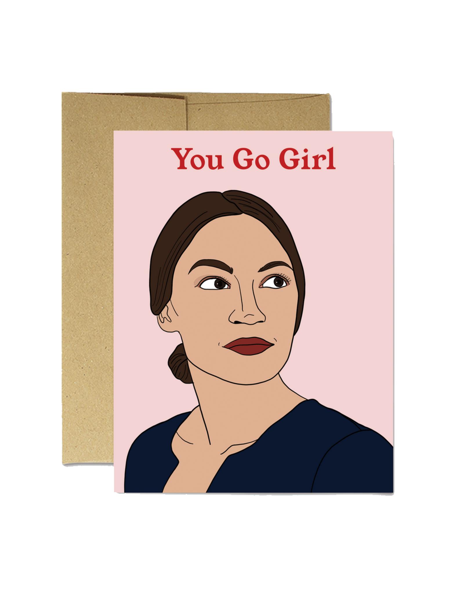 AOC You Go Girl Greeting Card