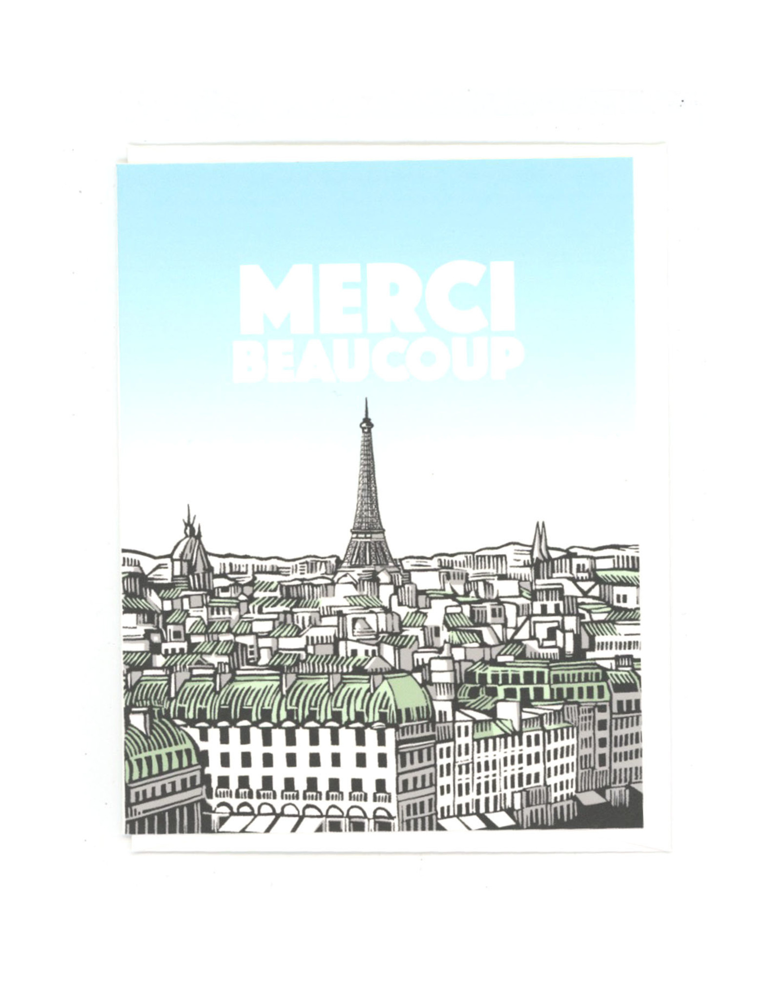 Merci Beaucoup Paris Greeting Card