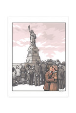 Statue of Liberty Kiss Print