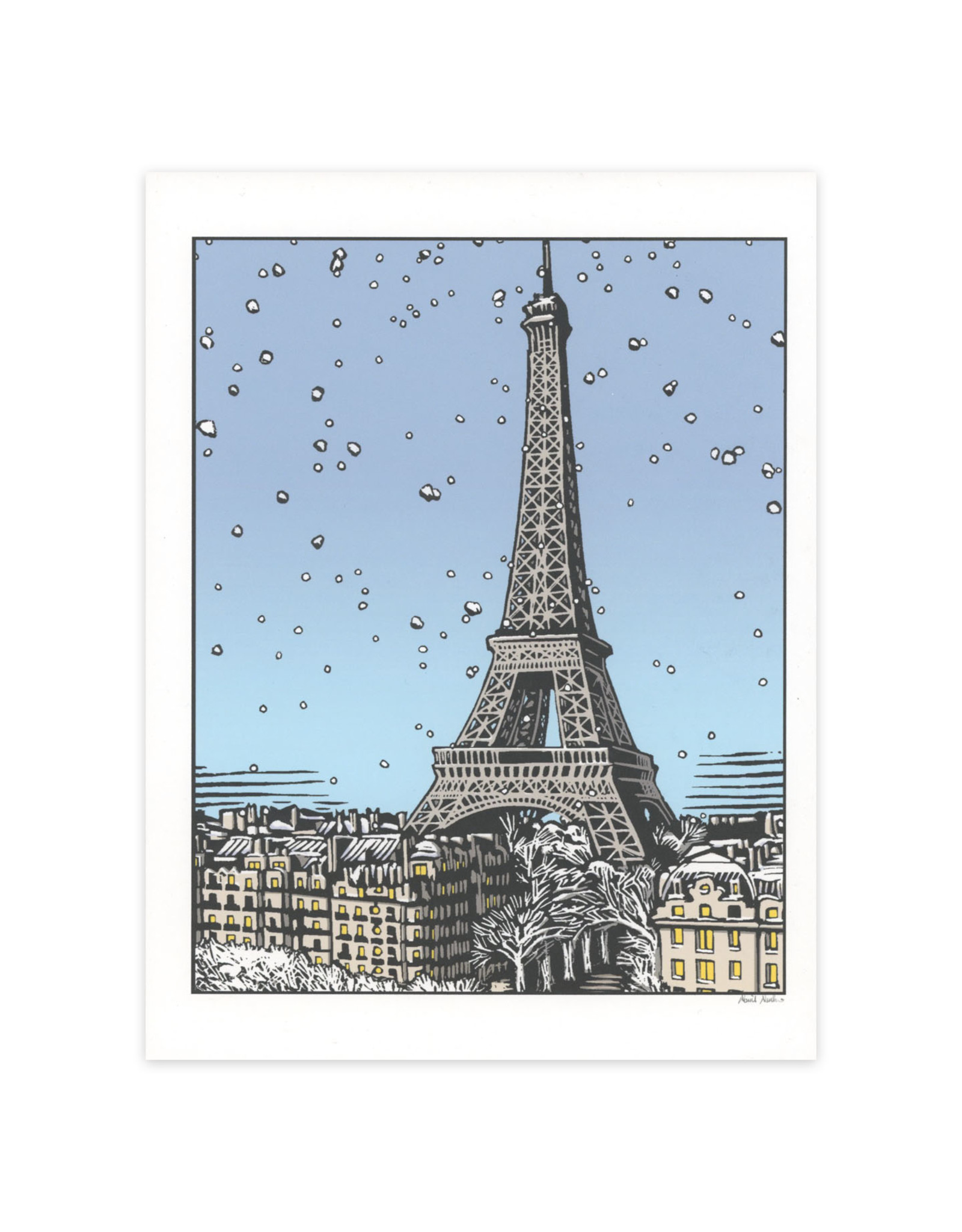 Eiffel Tower Winter Print