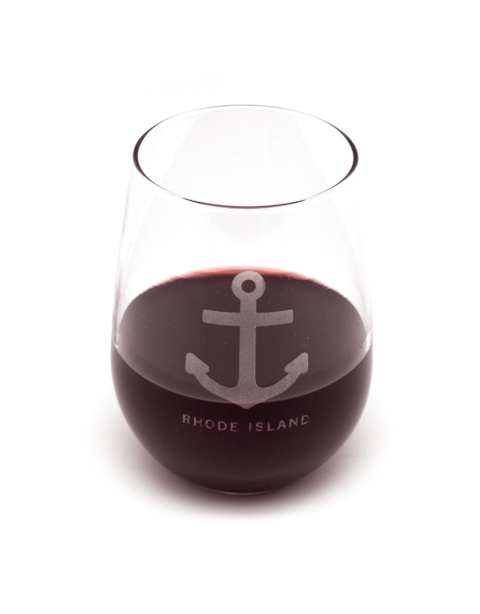 Anchor Rhode Island Stemless Wine Glass