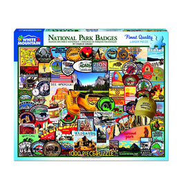 National Park Badges 1000 Piece Puzzle