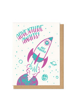 Adventure Awaits! Wedding (Teal) Greeting Card
