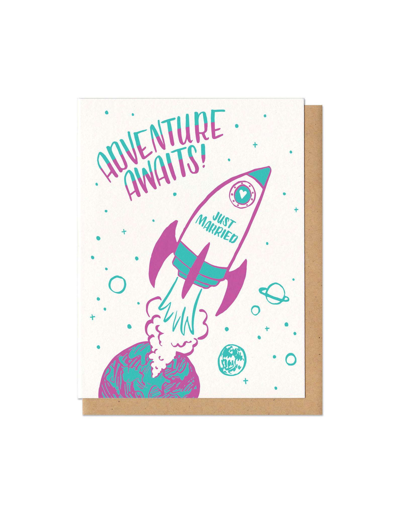 Adventure Awaits! Wedding Greeting Card